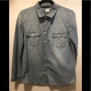 J.Crew chambray button down shirt.